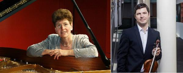 Mihail Katev, Violine  (1. Konzertmeister  Philharmonisches Staatsorchester Mainz) Ursula Monter, Klavier  (Hochschule für Musik, PCK Mainz u.a.)